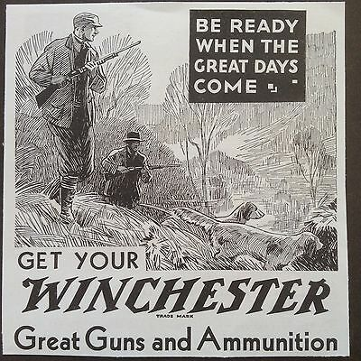 Antique 1907 Ad (Odl8)~Winchester Great Guns And Ammunition