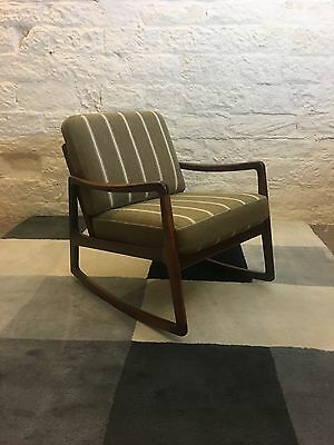 Stunning Solid Rosewood Rocking Chair By Ole Wanscher - France And Son / Danish