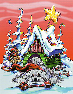 Havanese Christmas Card by Mike McCartney