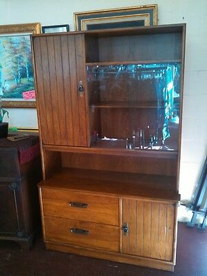Vintage Lane Furniture Big & Tall Solid Wood Cabinet with Hutch - QUALITY!