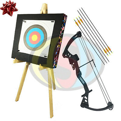 ASD Black Avenger Kids / Child Archery Compound Bow Package With Target & Stand