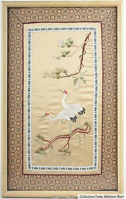 China 20. Jh. Seidenstickerei - A Chinese silk embroidery - Cinese chinois Chino