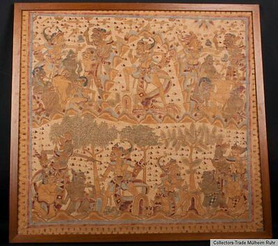 Indonesien - Bali 20. Jh. Malerei A Balinese painting on cloth (langse) pittura