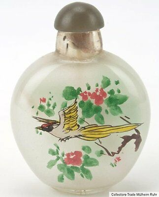 China 20. Jh. Glas A chinese export glass Snuff Bottle Cinese da fiuto bottiglia