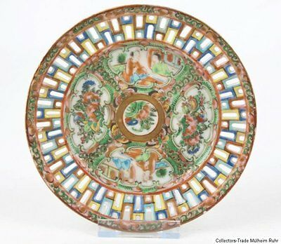 China 19. Jh. Teller Qing - A Chinese 'Canton' Porcelain Dish Porcellana Cinese