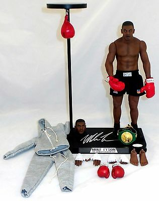 Mike Tyson Signed Youngest Champion 1/6th Scale Collectible Figure JSA Authentic