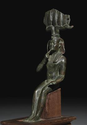 An Egyptian Bronze Figure Of Harpocrates, 30Th Dynasty/ptolemaic Period, 380-...