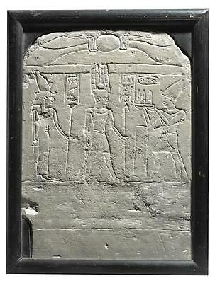 An Egyptian Limestone Round-Topped Stela, 26Th Dynasty, Reign Of Apries, 589-...