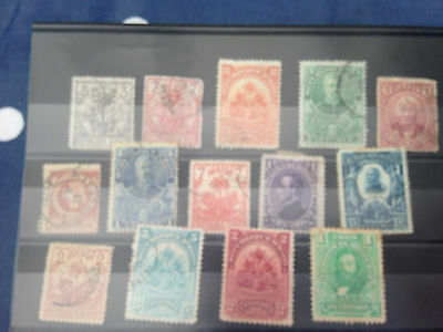 very tidy lot of Haiti and Honduras stamps on  card mostly early period