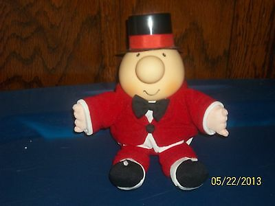 1995 American Greetings Tom Wilson Ziggy Plush Doll Red Suit Top Hat