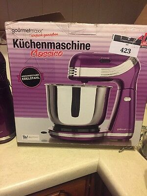 GOURMETmaxx Powerful Food Processor And Mixer Classico , 3 Litre, Purple Colour