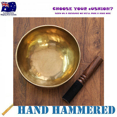 Traditional Tibetan Singing Bowl Hand Hammered 17cm, *Cushion & Stick*