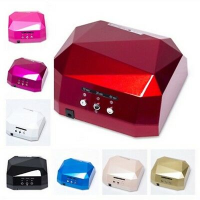 36W Nail Dryer Diamond LED UV CCFL Light Gel Curing Lamp lampe Gel Polish Tools
