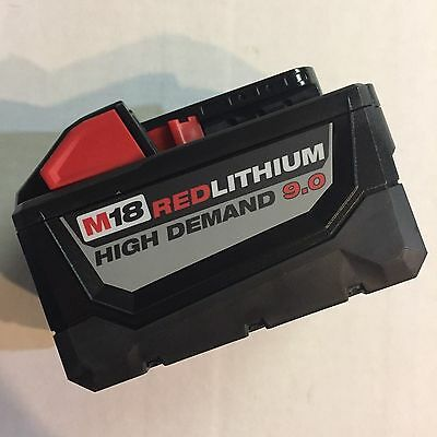 Genuine Milwaukee M18 XC 9 amp 18 Red Lithium High Demand Battery NEW 48-11-1890