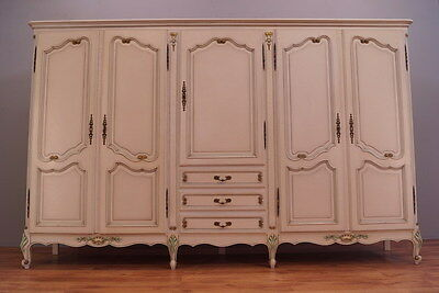 Amazing Shabby Chic French Wardrobe/armoire Set,chest Of Drawers,2 Bedside Cab