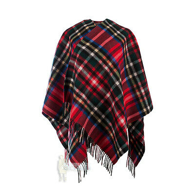 Edinburgh - Soft & Warm Lambswool Mini Or Girls Cape - Exploded Stewart Royal