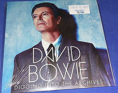 """DAVID BOWIE Digging Into The Archives"""" LP blue vinyl SEALED"""