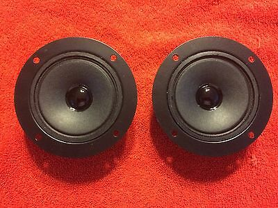 "NEW (2) 3"" Paper Cone Tweeters 4"" Frame 8ohm Pair for Fisher Curtis Mathes Sharp"