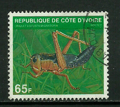 Ivory Coast #519C Used Stamp - Insect - Cricket (a)