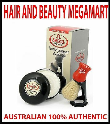 Shaving Brush With Stand And Soap 100% Pure Boar Bristle