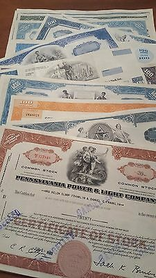 40 Different Stock Certificates Lot Pennsylvania Railroad Pan Am Erie New York