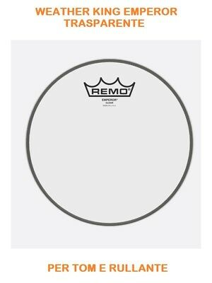 "Remo Weather King Emperor Clear Pelle Battente Trasparente 12"" Be-0312-00"