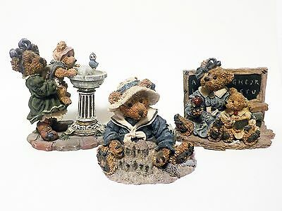 Boyds Bears & Friends Bear Figurines Lot of 3 2259 2020-06 228323
