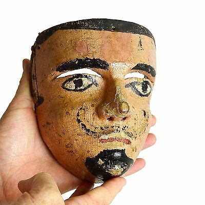 Early 20th c. Antique Mexican Moro Carved & Painted Dance Mask