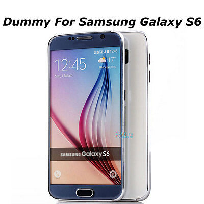 White Non Working 1:1 Display Dummy Toy Phone Model For Samsung Galaxy S6 G9200