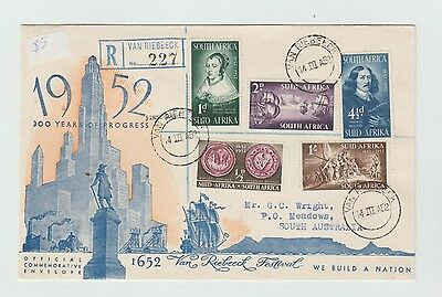 1952 South Africa FDI Cover to South Australia.(12)