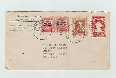 1938 Philippines to Australia Cover with pre-paid.(9)