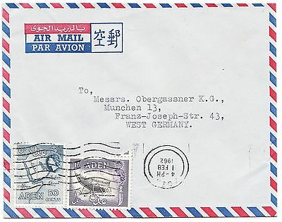 ADEN cover postmarked Aden, 1 Feb. 1962 - airmail to Germany