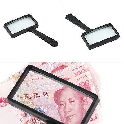 1pc 4X Rectangular Handheld Large Reading Magnifying Glass Magnifier New E5