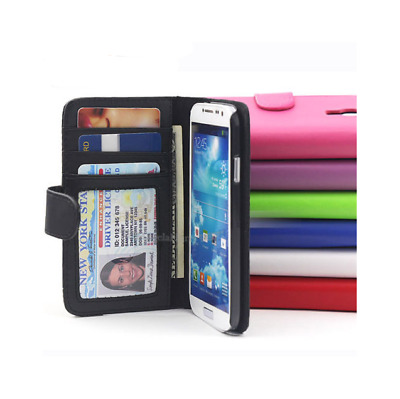 For Samsung Galaxy S3 S4 S5 S8 S7 S6 Edge Plus Case, Wallet Flip Leather Cover