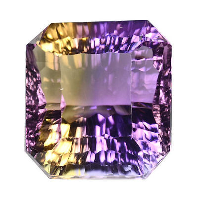 12.050Cts Unseen Rare Concave Cut Violet & Yellow Natural Ametrine   Gemstones