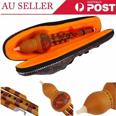 Chinese Yunnan Hulusi Gourd Flute Ethnic Musical Instrument With Gift Box P6