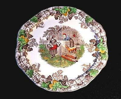 Beautiful Copeland Spode Byron Green Trim Divided Plate