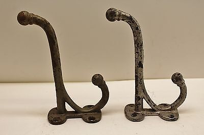Antique Pair Of Cast Iron Coat Wall Hooks