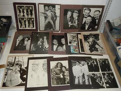 Famous Movies Stars Lot of 15 Vintage Laminated Photograph Pictures Liberace ++