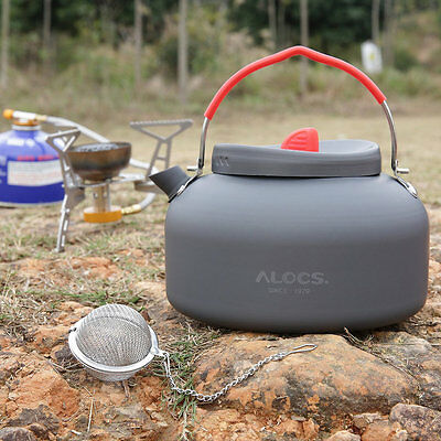 Alocs Aluminum CW-K03 Outdoor Kettle Camping Picnic Water Teapot Coffee Pot E5