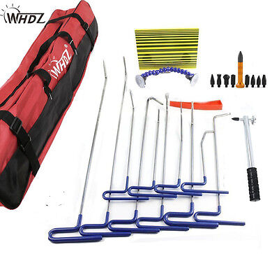 PDR Tools Ding Dent Repair Rods Professional Paintless Hail Removal Big Kit(B)