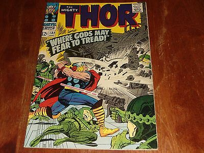 THE MIGHTY THOR # 132 FN//VF ( 1966.MARVEL) 1st EGO THE LIVING PLANET APP.