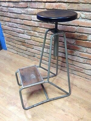 Hight Vintage Factory Industrial swivel chair 1940