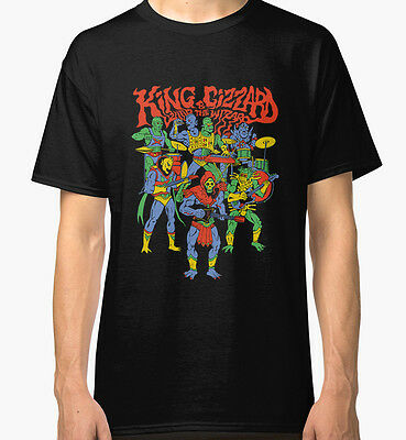 King Gizzard And The Lizard Wizard Men's Black Tshirt Tees Clothing