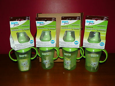 Lot of 4 New BORN FREE Hard Spout 9 Oz Baby Toddler Drinking Sippy Cup 9 months+