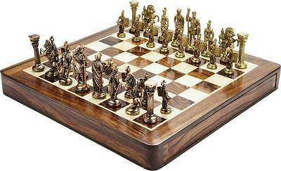Chessncrafts Antique Gold & Copper, wooden drawer 8 cm - Chess Board---
