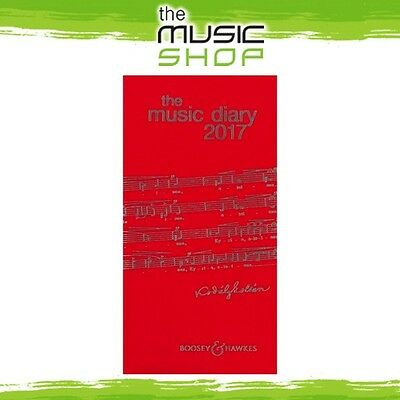 New Boosey & Hawkes 2017 Music Diary - Red