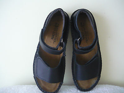 Naot - Black Leather Sandals - As New - Size 5