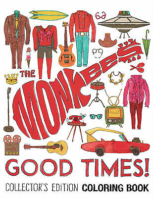 MONKEES good times! COLORING BOOK and STICKERS promotional 2016