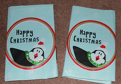 Pack Of 2 Large Christmas Festive Table Covers Cloths Snowman Santa Reindeer New
